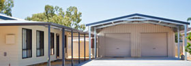 Double colorbond garage domestic shed