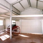 American Barn interior with Mezzanine