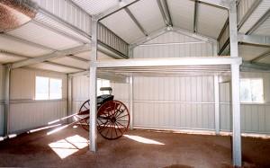 American Barn Interior With Mezzanine