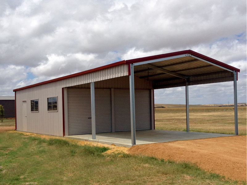 Residential sheds garages wa nt aussie sheds for Construction garage double
