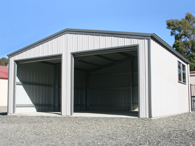 Residential sheds garages wa nt aussie sheds for Overhead doors for sheds