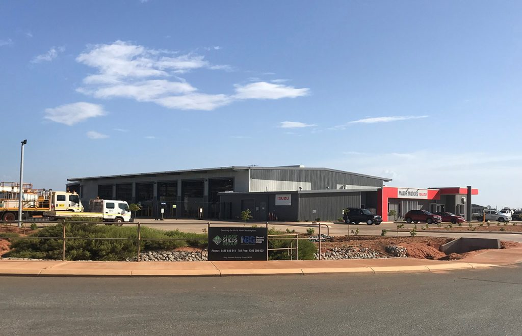 Major Motors Isuzu Port Hedland Shed