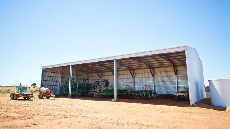 Farm machinery shed