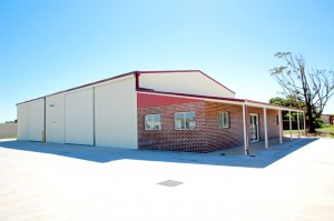 Geraldton Commercial Shed with Brick Office Frontage