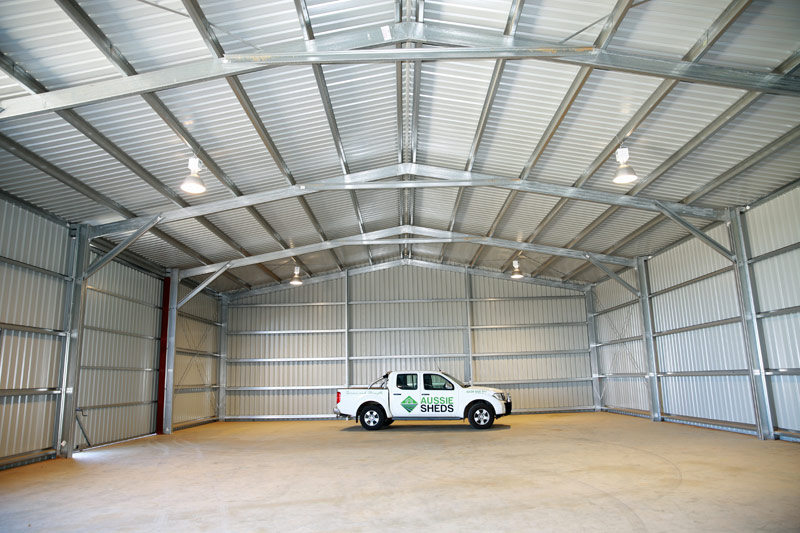 Industrial sheds commercial sheds aussie sheds wa nt qld for Shed office interior