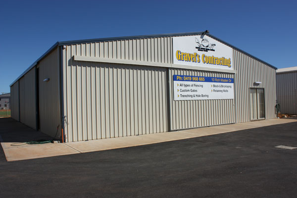 Gravels Contracting Shed Aussie Sheds