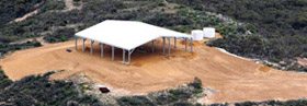 Mining sheds remote cover