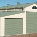 American barn with 3 roller doors