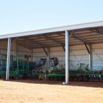 Farm machinery shed