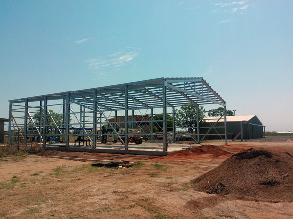 Broome Shed under construction