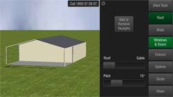 3D shed design software