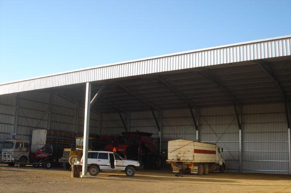 Farm Sheds WA Hay Machinery Storage Aussie